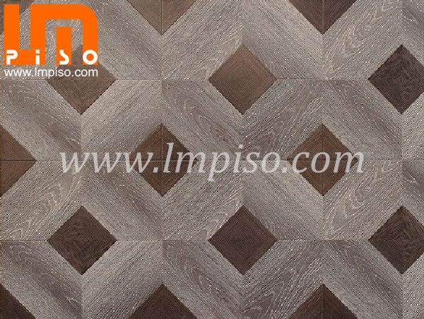 High quality grey color glamour parquet laminate flooring