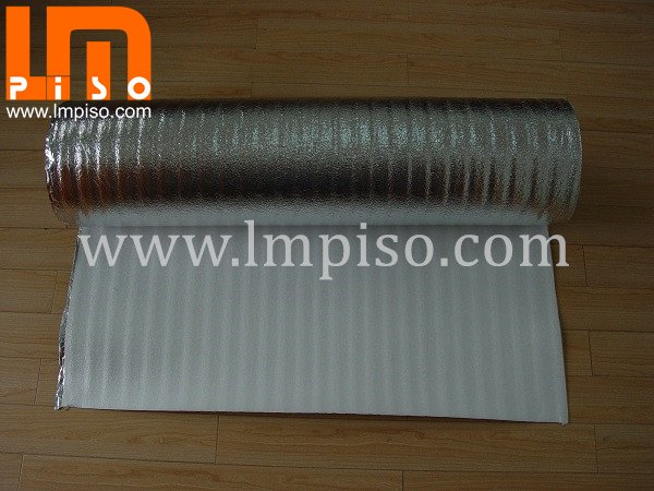 2mm EPE foam one side with Aluminum film Underlay for lamin