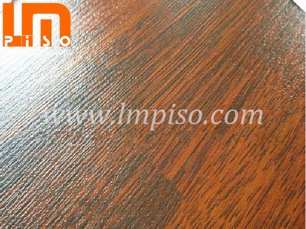 Commercial beveled v groove teak wood small embossed laminate