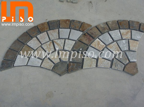 300x300mm multicolor slate tiles