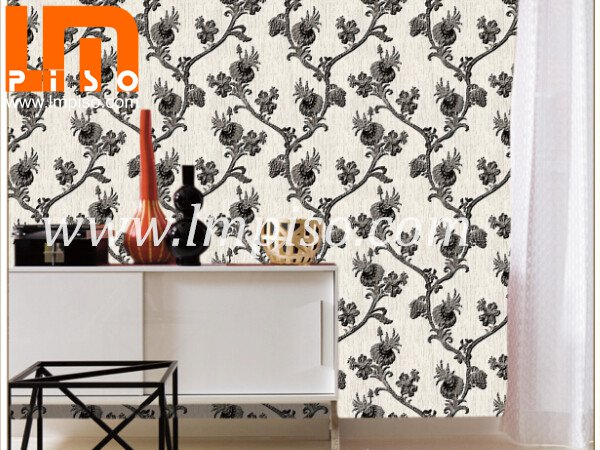 New design heavy embossed waterproof PVC form vinyl wallpape