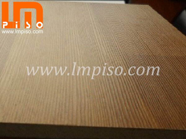 High density fiberboard single click glueless textured lamina