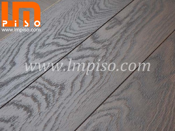 Dynamic embossed in registered finish laminate flooring for v
