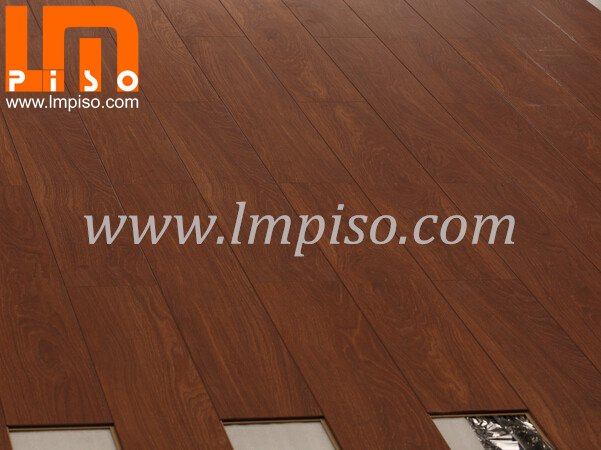 Beveled painted v groove easy lock EIR finish laminate flooring