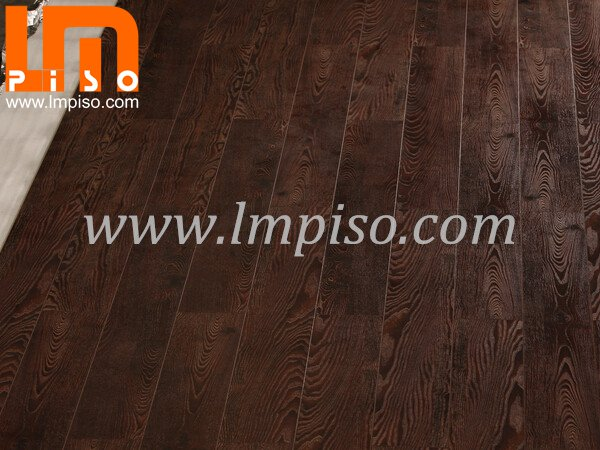 Best price dark color glamour EIR finish laminate flooring