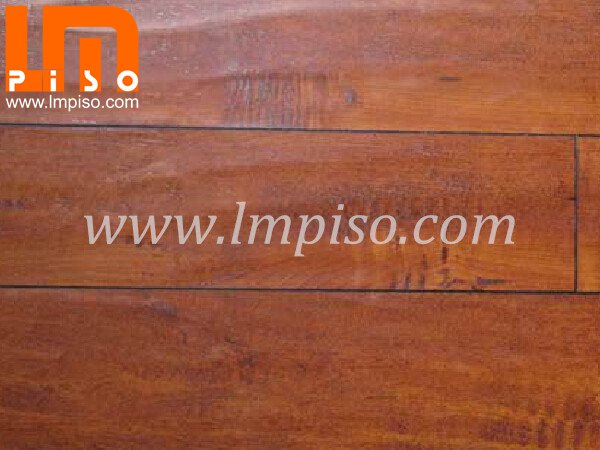 Pressed v groove single clic AC4 handscraped surface laminate