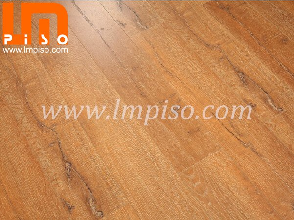 Beveled painted v groove oak wood crack stone laminated floor