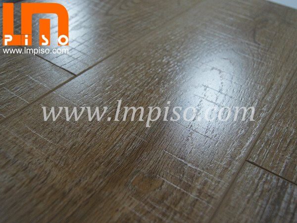 Anti cigarette burn painted v groove cutting stone laminate flooring
