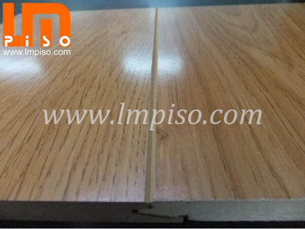 German technology shinning finish teak wood v groove laminate flooring