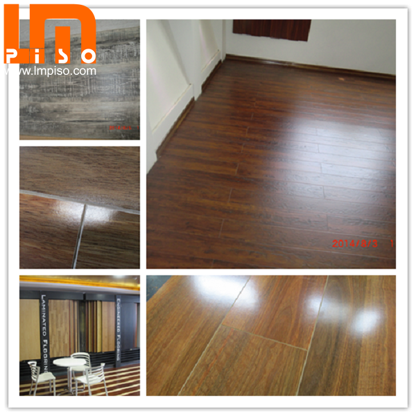 Hot sale HDF double click glamour applewood laminate flooring